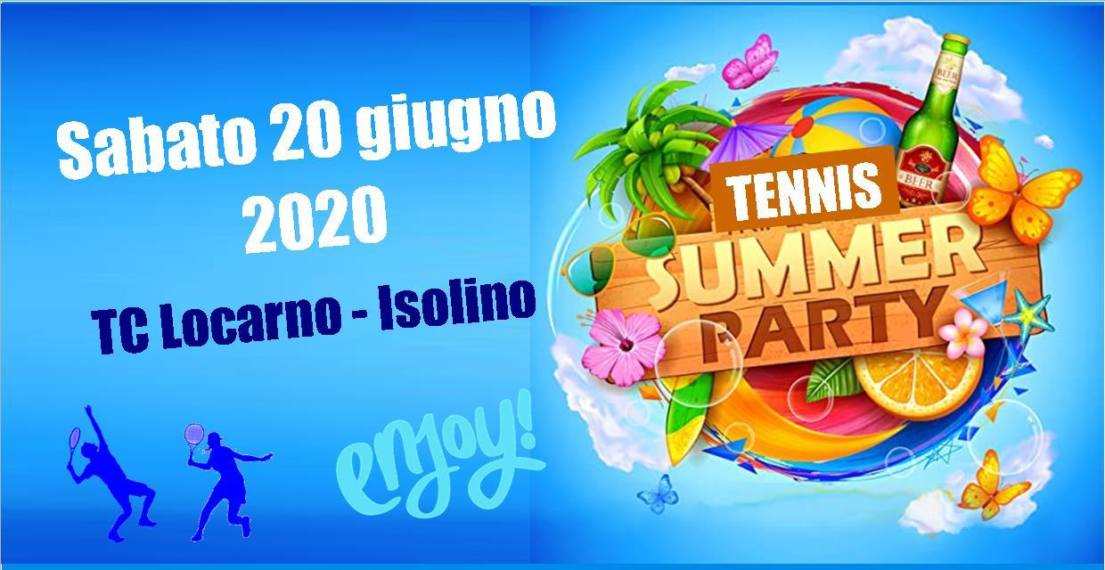 Tennis Summer Party il 20.06.20